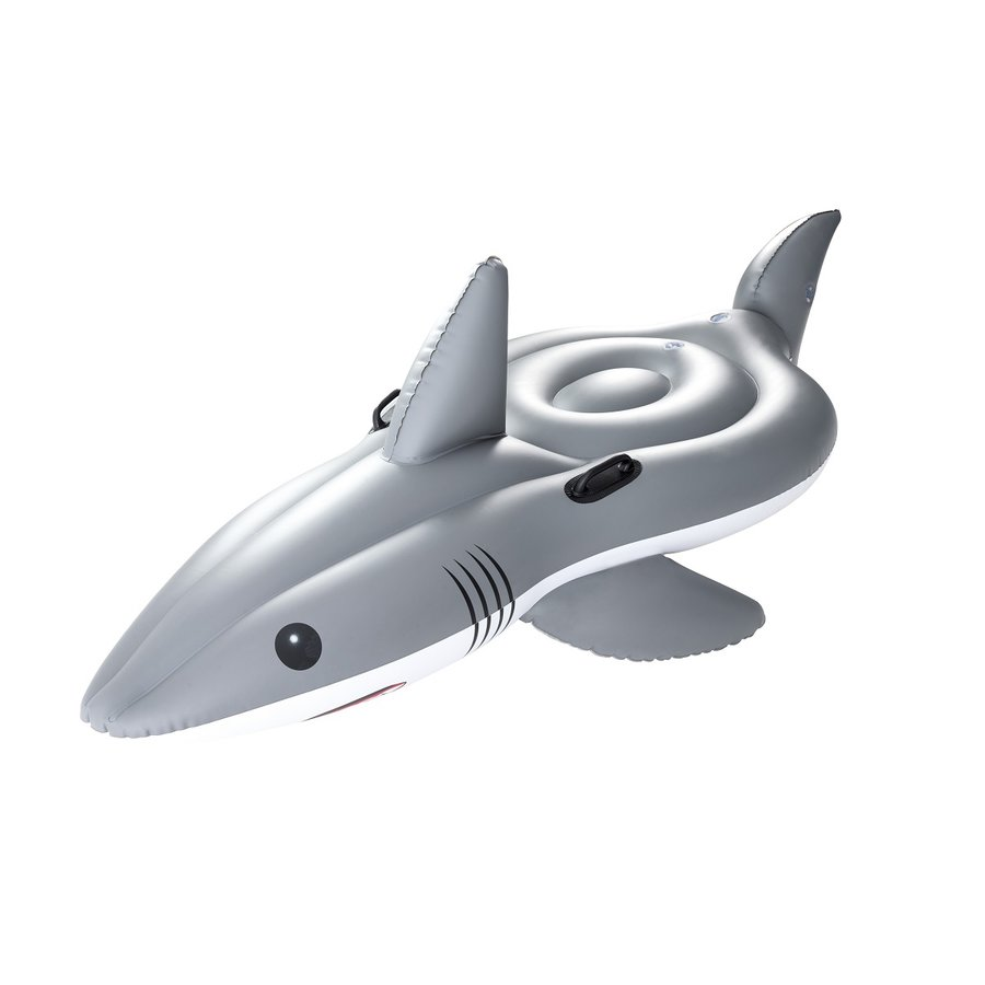 Šedé nafukovací lehátko Žralok Bestway - délka 254 cm a šířka 122 cm