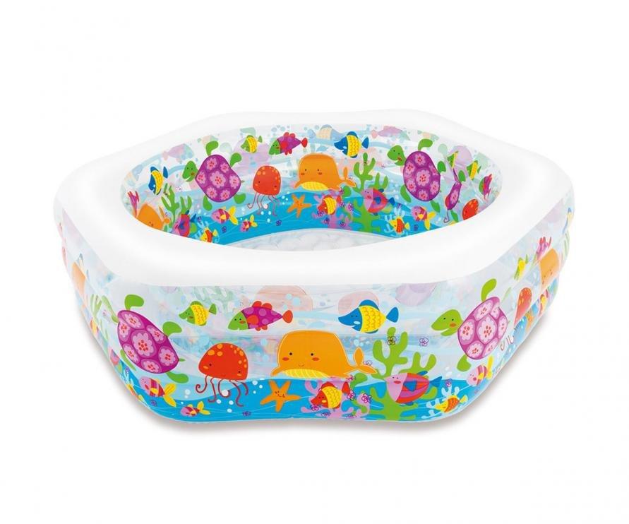Nadzemní nafukovací dětský pětiúhelníkový bazén INTEX - délka 193 cm, šířka 180 cm a výška 64 cm