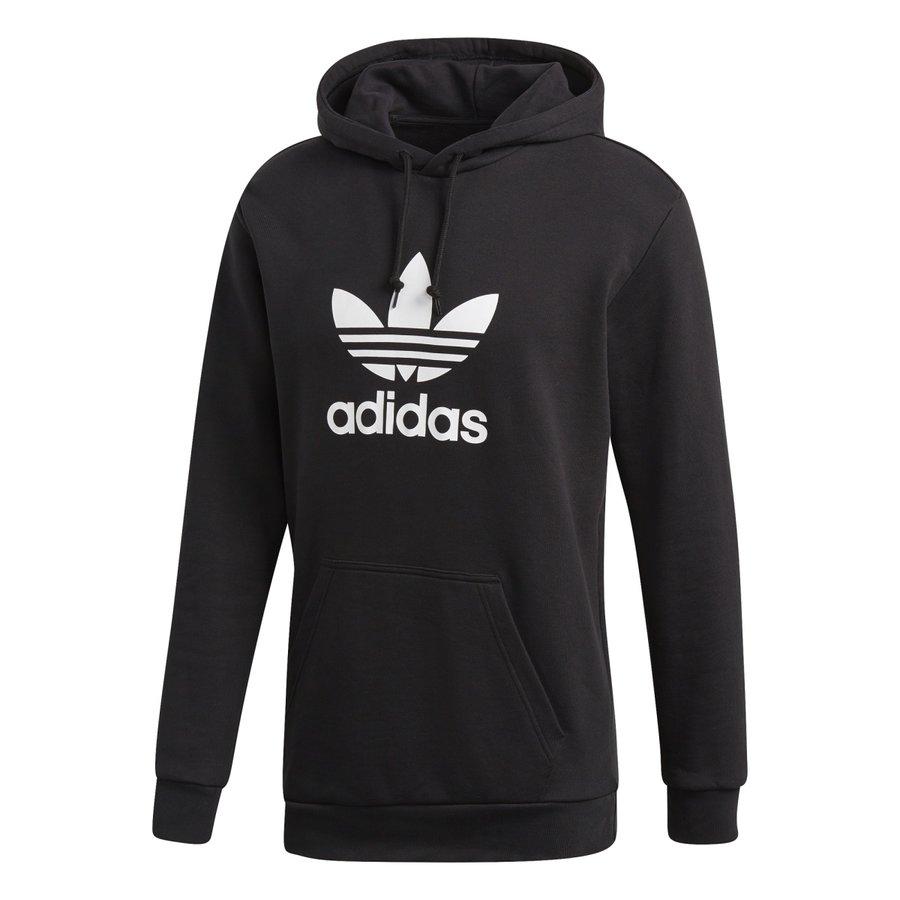Černá pánská mikina s kapucí Adidas - velikost S