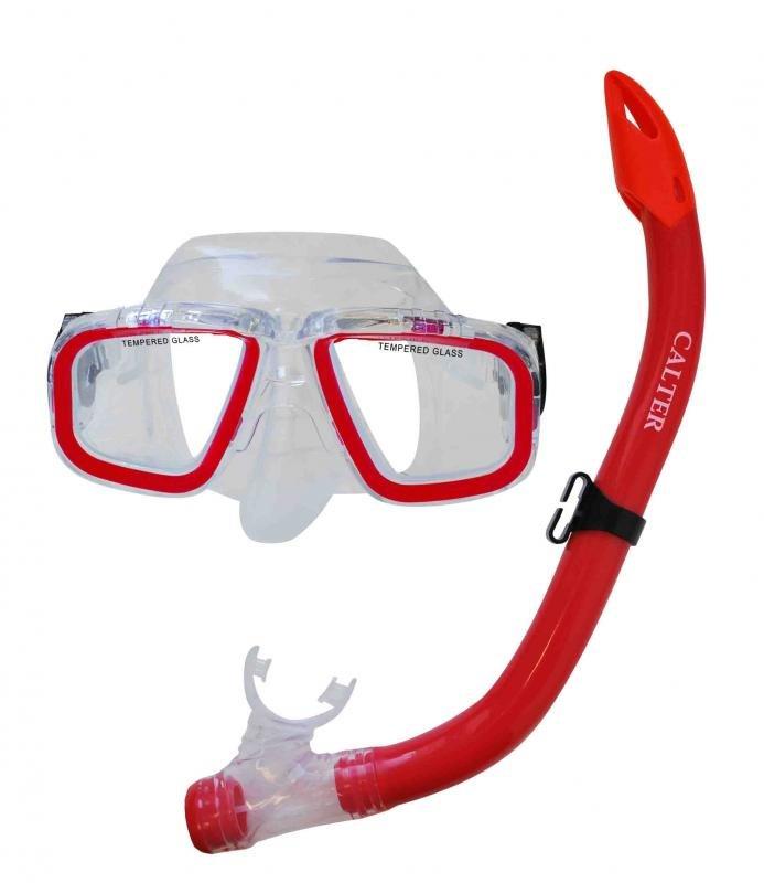 Potápěčská maska - Potápěčský set CALTER JUNIOR S9301+M229 P+S, červený