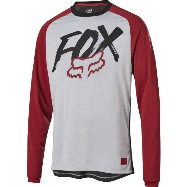 Šedý dětský cyklistický dres Fox