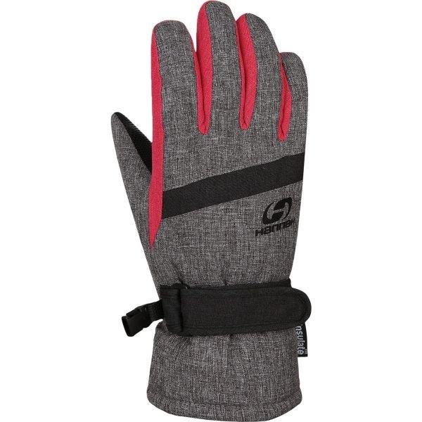 Šedé dětské zimní rukavice Hannah