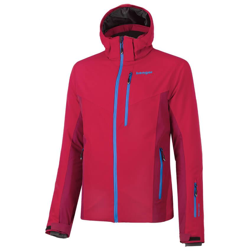 Červená pánská lyžařská bunda