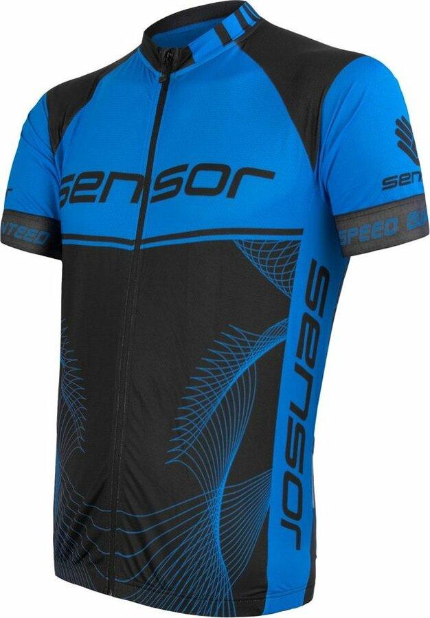 Černo-modrý pánský cyklistický dres Sensor - velikost L