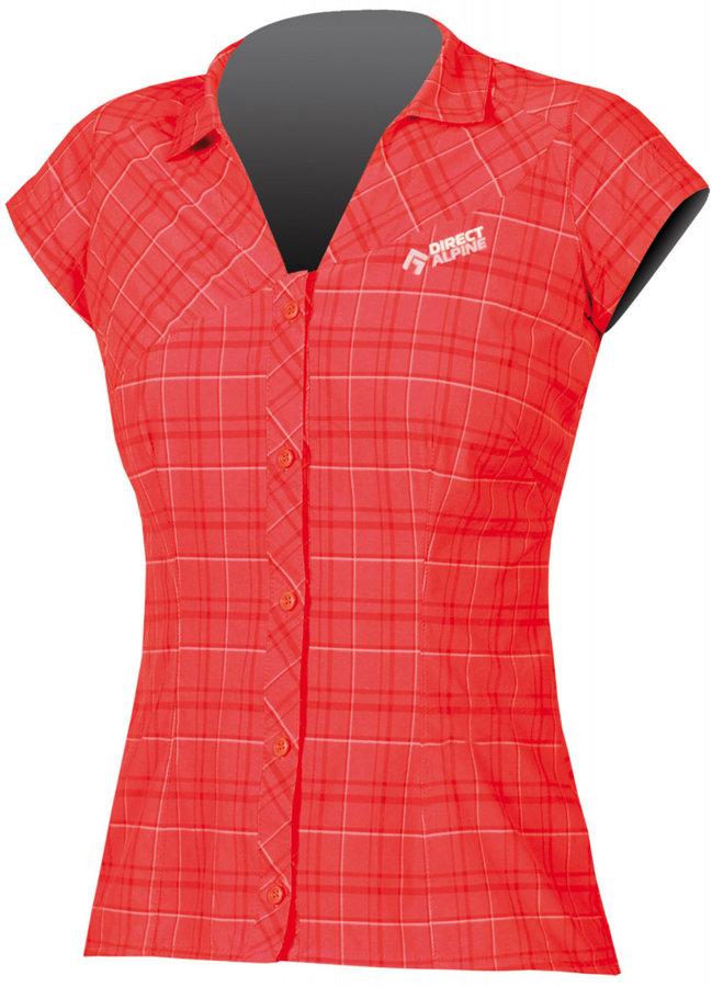 Červená dámská košile s krátkým rukávem Direct Alpine