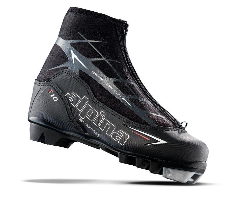 Černé dětské boty na běžky Alpina