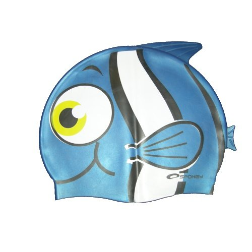 Modrá dětská chlapecká nebo dívčí plavecká čepice RYBKA MARLIN, Spokey