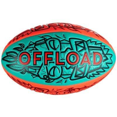 Modrý míč na ragby R100, Offload - velikost 4