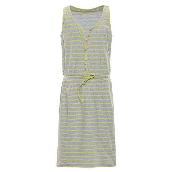 Šedo-žluté dívčí šaty Alpine Pro