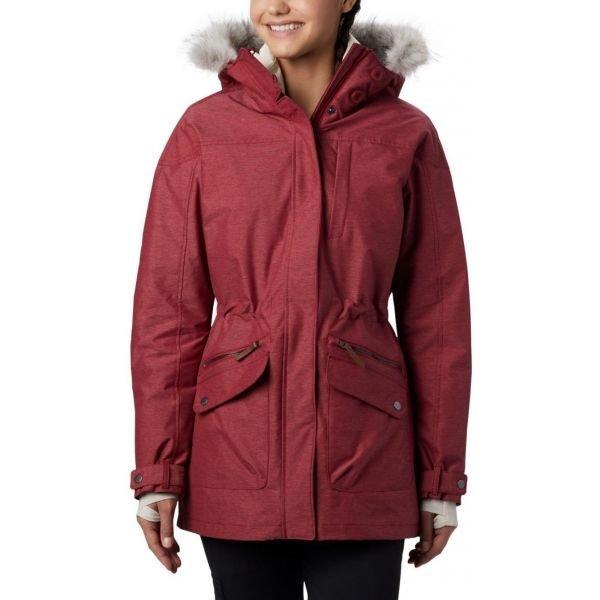 Červený zimní dámský kabát Columbia