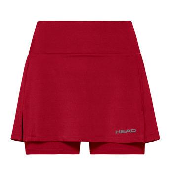 Červená dámská tenisová sukně Head