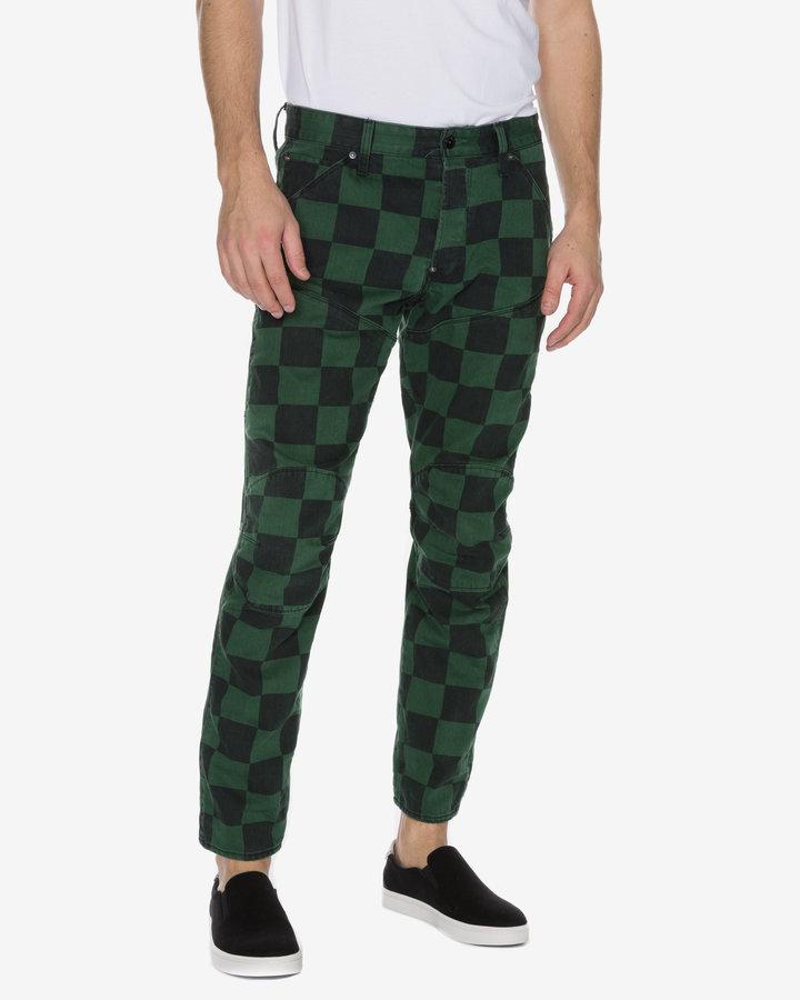 Černo-zelené pánské džíny G-Star RAW
