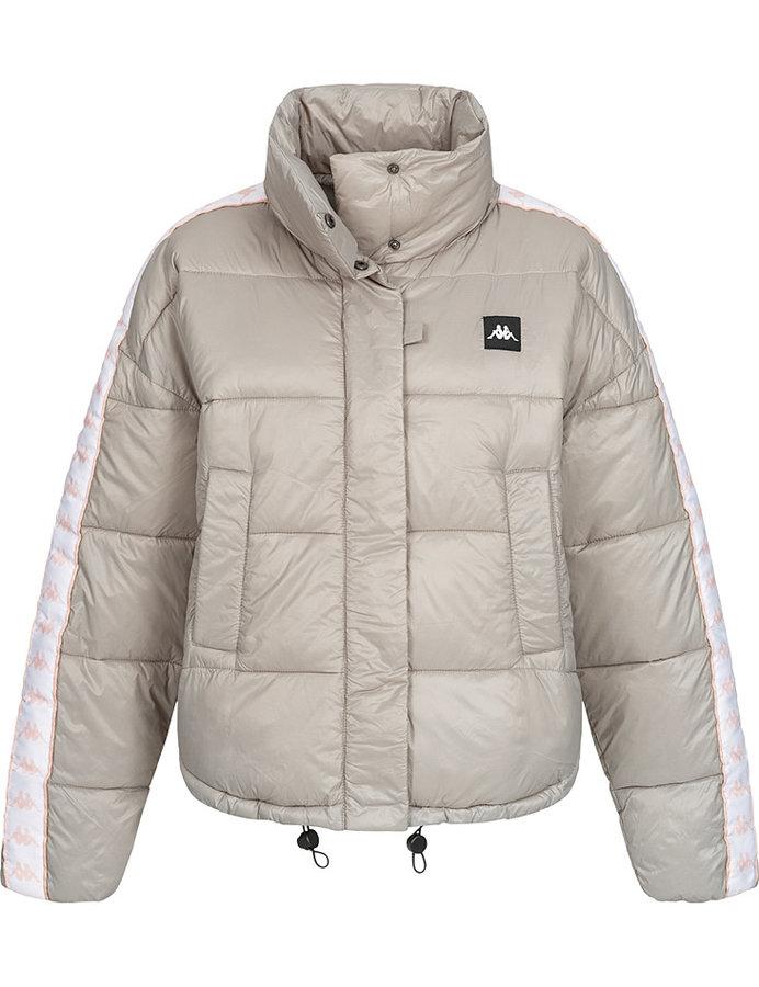 Béžová zimní dámská bunda - velikost S