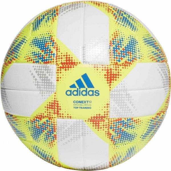 Bílo-žlutý fotbalový míč Adidas