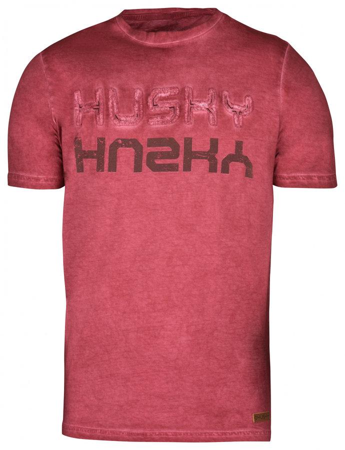 Červené pánské tričko s krátkým rukávem Husky