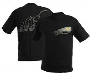 Černé pánské rybářské tričko DOC Fishing