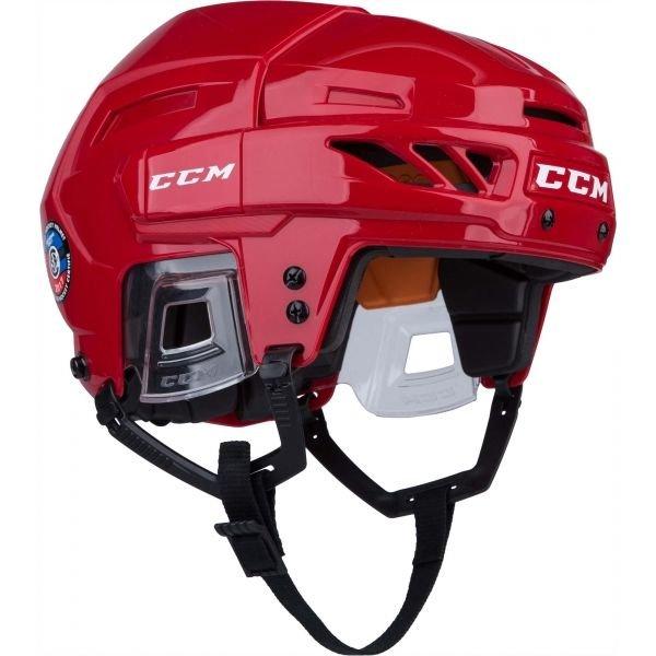 Červená hokejová helma CCM