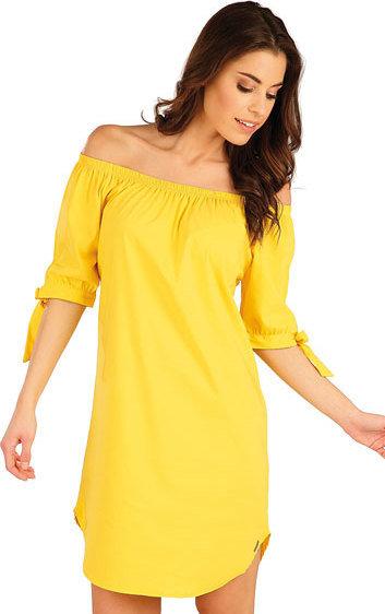 Žluté dámské šaty Litex - velikost XL