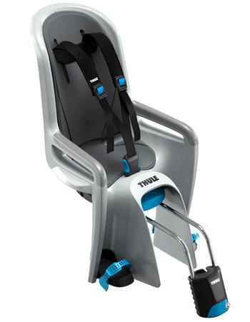 Šedá dětská sedačka na kolo zadní umístění Thule - nosnost 22 kg