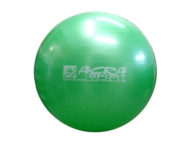 Zelený gymnastický míč Acra - průměr 75 cm