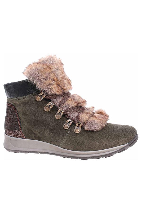 Zelené dámské kotníkové boty Ara - velikost 38 EU