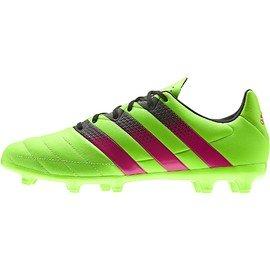 Zelené kopačky lisovky Ace 16.3 FG/AG Leather, Adidas - velikost 41 1/3 EU