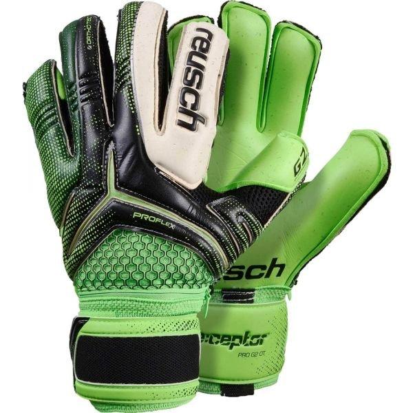 Zelené pánské brankářské fotbalové rukavice Reusch