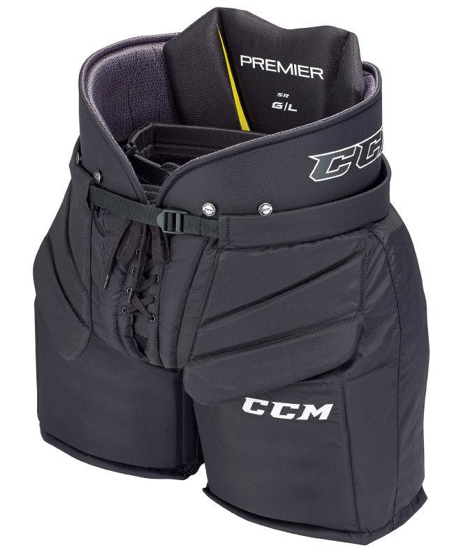 Černé brankářské hokejové kalhoty - intermediate CCM - velikost L