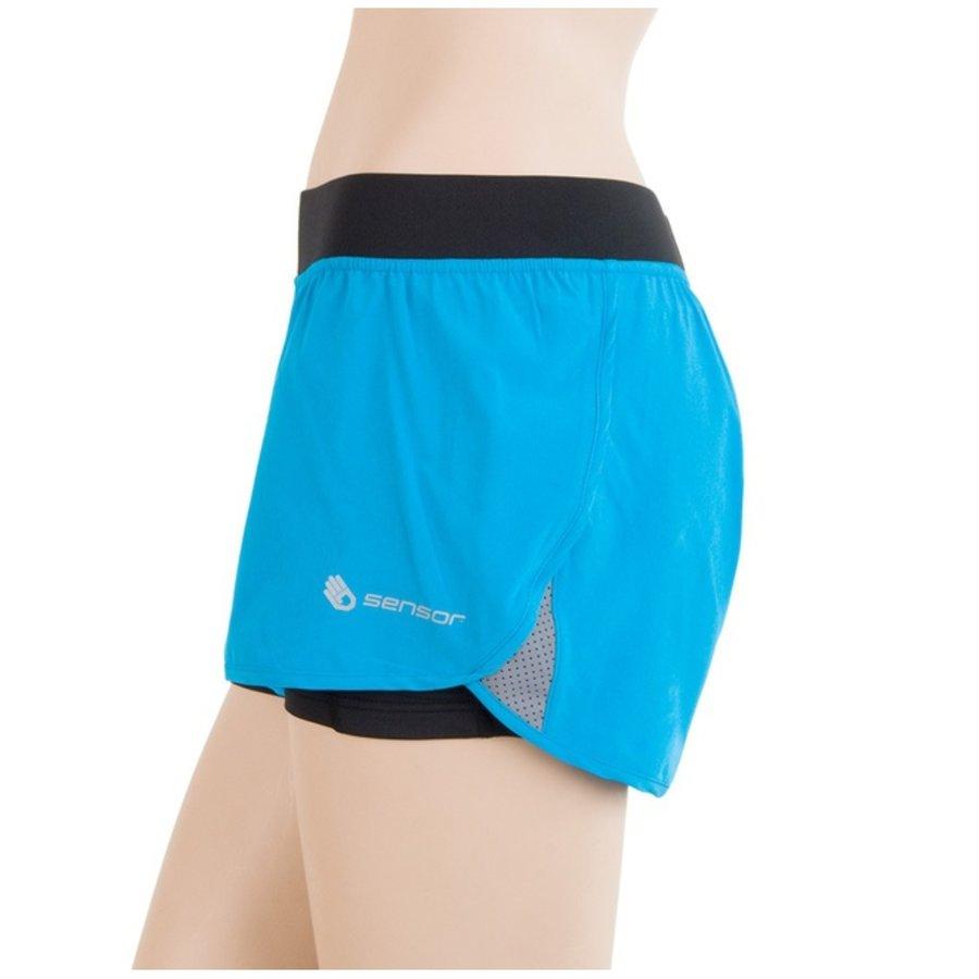 Černo-modré dámské běžecké kraťasy Sensor - velikost XL