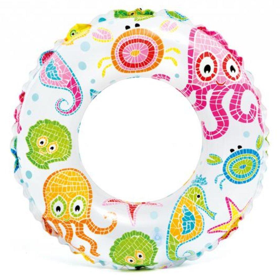 Bílý dětský nafukovací kruh INTEX - průměr 61 cm