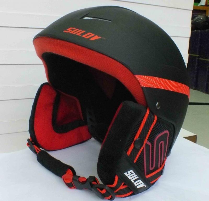 Černá lyžařská helma Sulov - velikost 58-61 cm