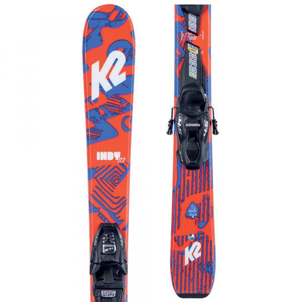 Modro-oranžové dětské skialpové lyže s vázáním K2