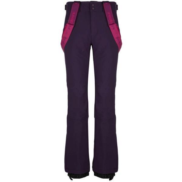 Fialové softshellové zimní dámské kalhoty Loap - velikost S