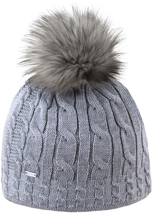 Šedá dámská zimní čepice Kama