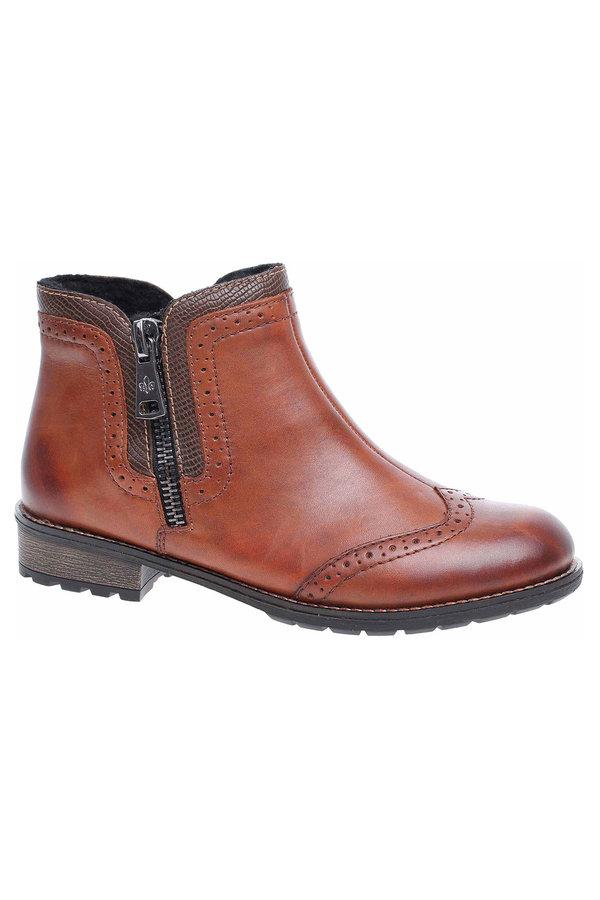 Hnědé dámské zimní boty Rieker - velikost 39 EU