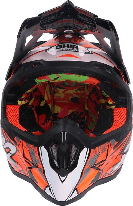 Helma na motorku Shiro - velikost 63-64 cm
