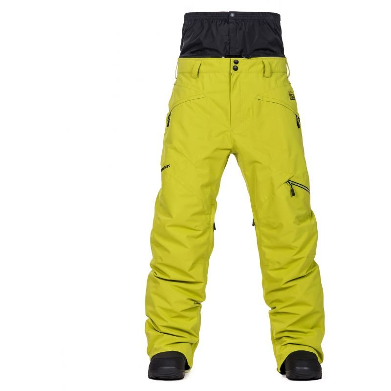 Žluté pánské snowboardové kalhoty Horsefeathers