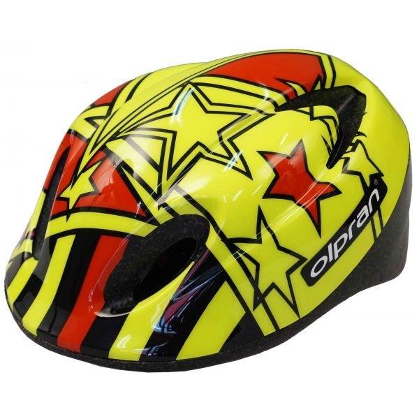 Černo-žlutá dětská cyklistická helma Olpran