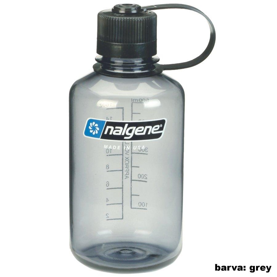 Šedá láhev na pití Narrow Mouth, Nalgene