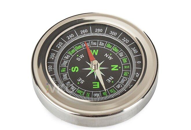 Kompas - Kovový kompas/buzola, kapesní