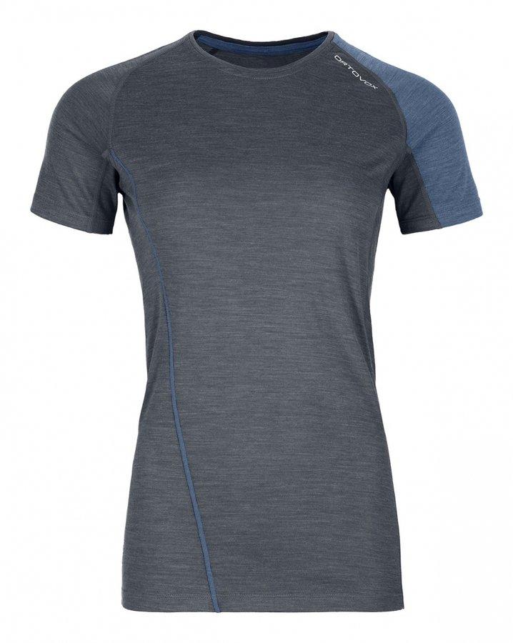 Šedé dámské termo tričko s krátkým rukávem Ortovox
