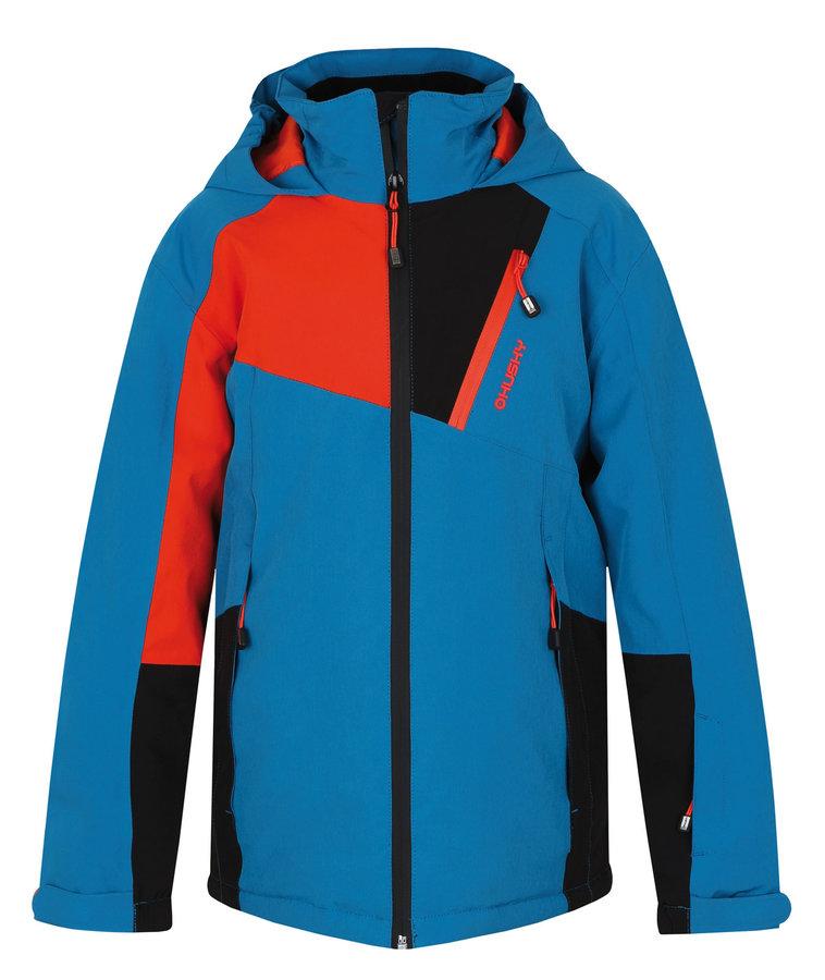 Modrá dětská chlapecká nebo dívčí lyžařská bunda Husky - velikost 122