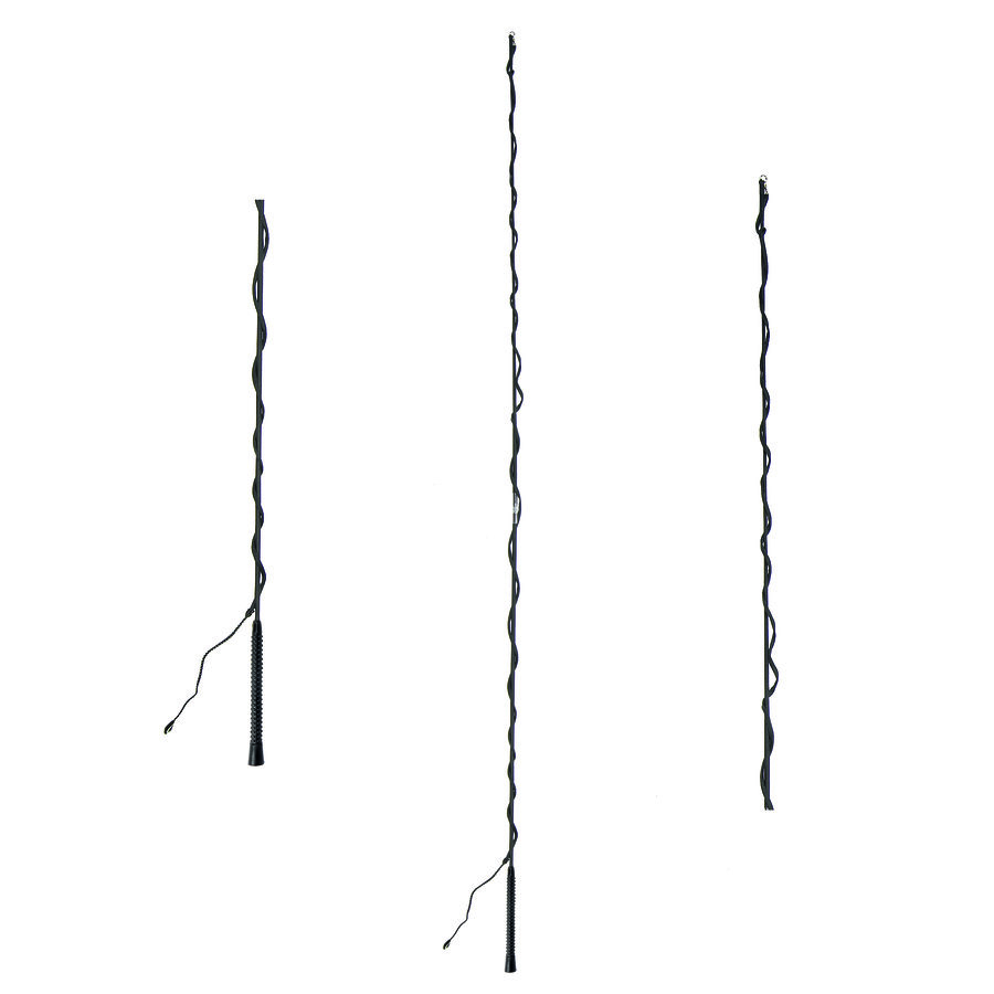 Černý dvoudílný lonžovací bič HKM - délka 2,5 m