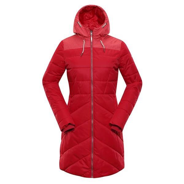 Oranžový nepromokavý dámský kabát Alpine Pro - velikost S-L