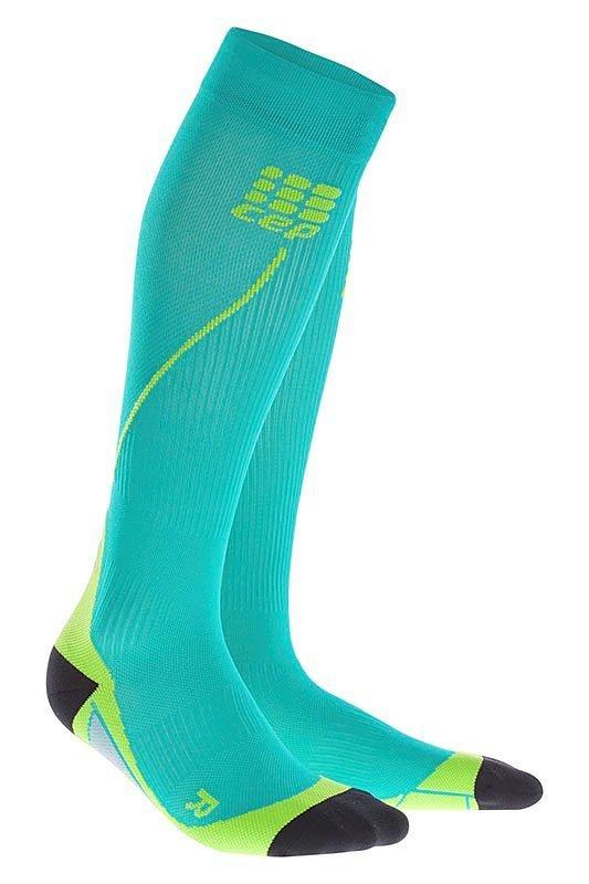 Modré vysoké pánské běžecké ponožky CEP - univerzální velikost
