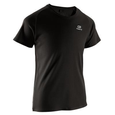 Černé dětské tričko na atletiku Kalenji