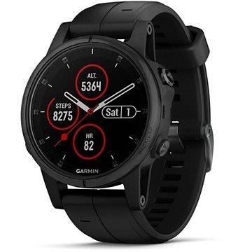 Černé chytré hodinky Fenix 5S Plus, Garmin