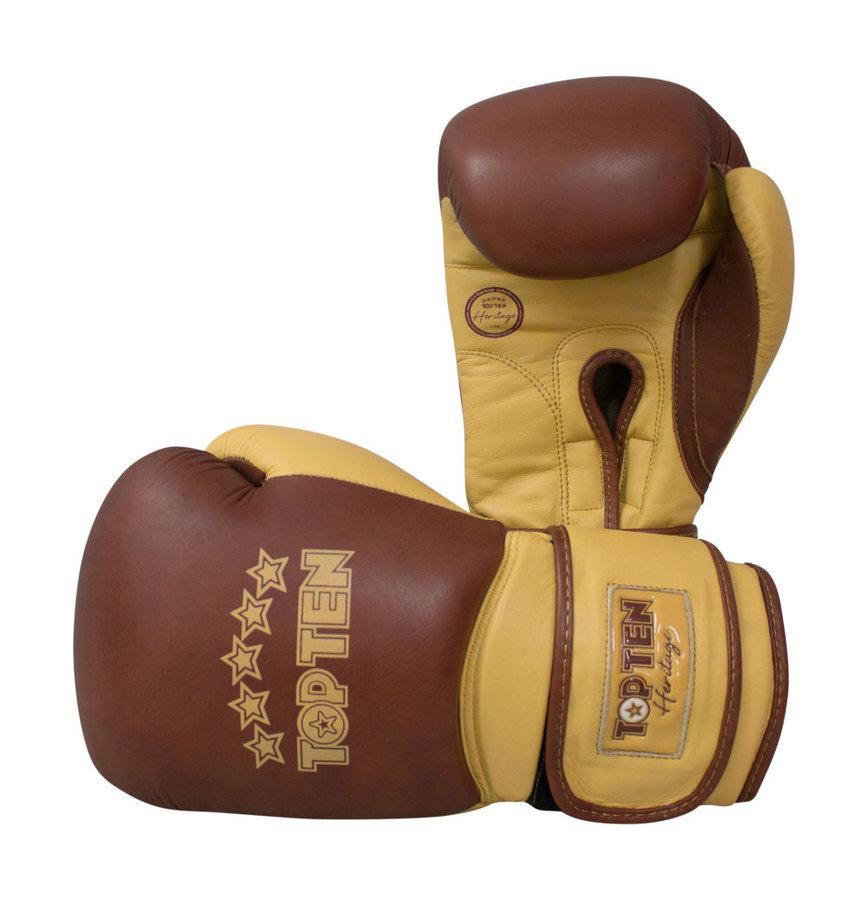 Hnědé boxerské rukavice Top Ten - velikost 10 oz