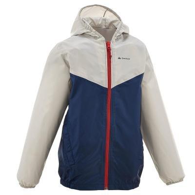 Bílo-modrá chlapecká turistická bunda Quechua
