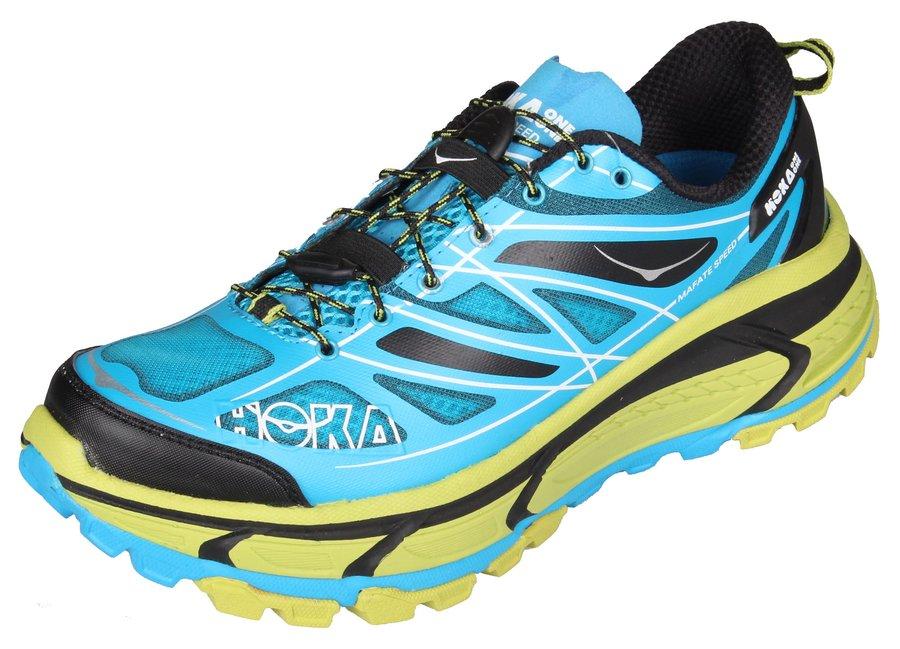 Modré dámské běžecké boty - obuv Mafate Speed, Hoka One One - velikost 42 EU